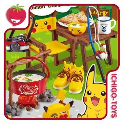 Re-ment Polémon Camping 1/12 - Coleção Completa!  - Ichigo-Toys Colecionáveis
