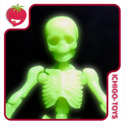 Re-ment Pose Skeleton - 01 Skeleton Human - Glow in the Dark  - Ichigo-Toys Colecionáveis