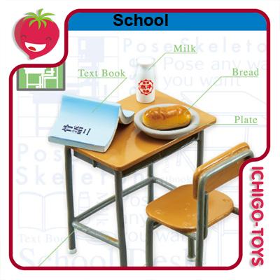 Re-ment Pose Skeleton - 05 School  - Ichigo-Toys Colecionáveis