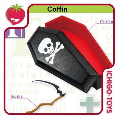 Re-ment Pose Skeleton - 10 Coffin  - Ichigo-Toys Colecionáveis