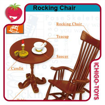 Re-ment Pose Skeleton - 11 Rocking Chair  - Ichigo-Toys Colecionáveis