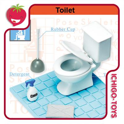 Re-ment Pose Skeleton - 13 Toilet  - Ichigo-Toys Colecionáveis