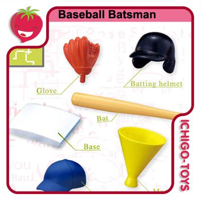 Re-ment Pose Skeleton - 15 Baseball Batsman  - Ichigo-Toys Colecionáveis