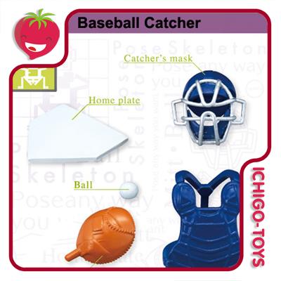 Re-ment Pose Skeleton - 16 Baseball Catcher  - Ichigo-Toys Colecionáveis