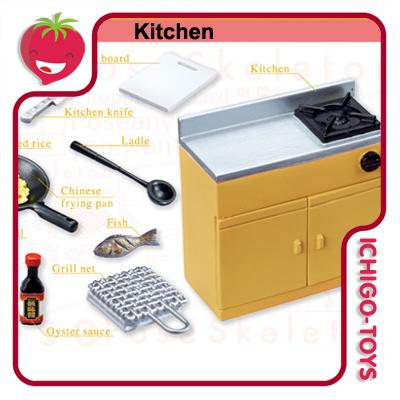 Re-ment Pose Skeleton - 20 Kitchen  - Ichigo-Toys Colecionáveis