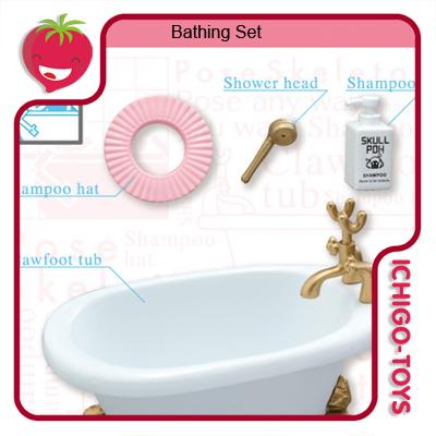 Re-ment Pose Skeleton - 23 Bathing  - Ichigo-Toys Colecionáveis
