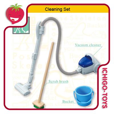 Re-ment Pose Skeleton - 25 Cleaning  - Ichigo-Toys Colecionáveis
