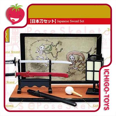 Re-ment Pose Skeleton - 29 japanese Sword Set  - Ichigo-Toys Colecionáveis