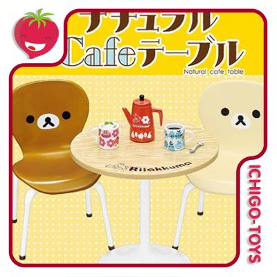 Re-ment Rilakkuma Natural Cafe Table  - Ichigo-Toys Colecionáveis