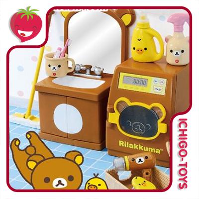 Re-ment Rilakkuma Wash Room - Coleção completa!  - Ichigo-Toys Colecionáveis