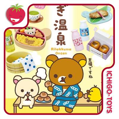 Re-ment Rilakkuma Hot Spring Hotel - Coleção Completa!  - Ichigo-Toys Colecionáveis