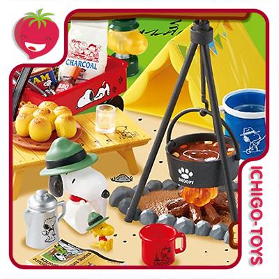 Re-ment Snoopy Lets Go Camp! 1/12 - Coleção Completa!  - Ichigo-Toys Colecionáveis