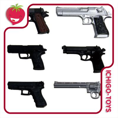 Realistic Handgun Set - 1/12  - Ichigo-Toys Colecionáveis