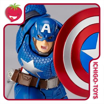 Revoltech Amazing Yamaguchi 007 - Captain America - Avengers  - Ichigo-Toys Colecionáveis