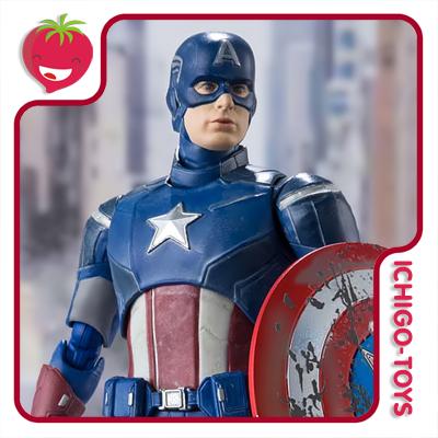 S.H. Figuarts - Captain America (Avengers Assemble Edition) - Avengers  - Ichigo-Toys Colecionáveis