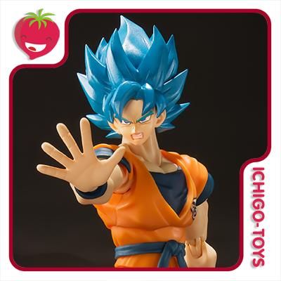 S.H. Figuarts - Super Saiyan God Super Saiyan Son Goku Super - Dragon Ball Super  - Ichigo-Toys Colecionáveis