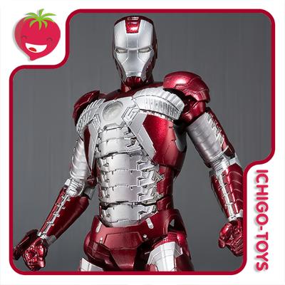 S.H. Figuarts Tamashii Web Exclusive - Iron Man Mark 5 - Iron Man 2  - Ichigo-Toys Colecionáveis