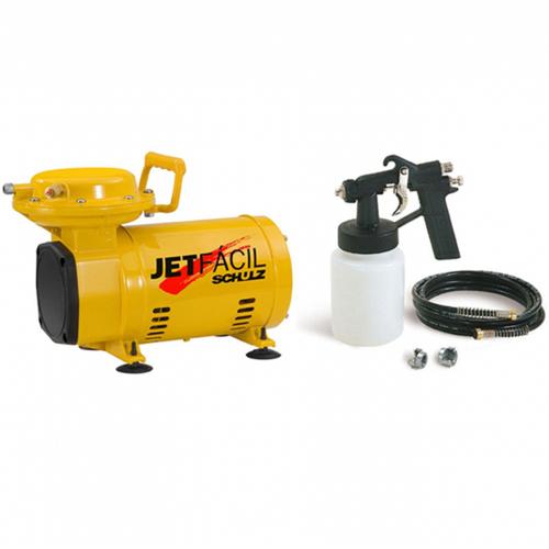 Compressor de Ar Schulz MS 2,3 Jet Fácil + Kit Pintura e Pulverização