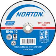 Disco Corte Norton  BNA 12   115 x 1,0 (4.1/2 pol. X 1,0) A. Inox