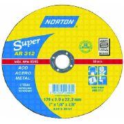 Disco Desbaste Norton Super - BDA 640 230 - (9 POL.) Aço - NORTON