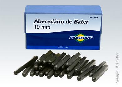 Alfabeto De Aço Importado - 10 MM 3/8 POL. - BRASFORT
