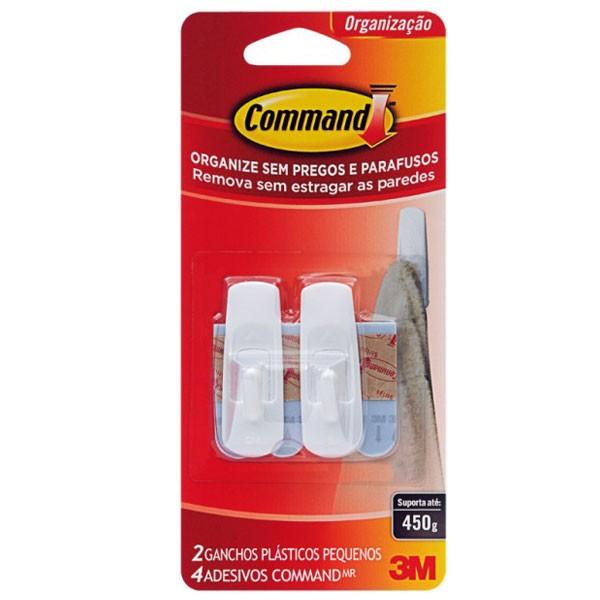 Gancho Command Pequeno C/ Adesivo - 3M