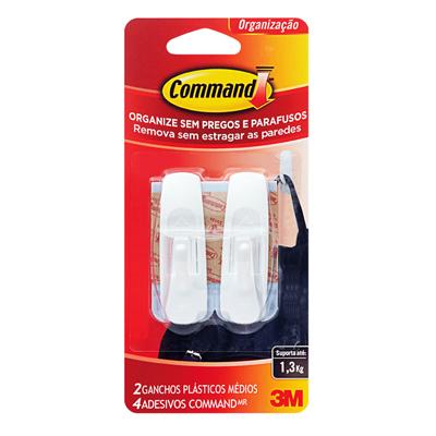 Gancho Command Medio C/ Adesivo - 3M