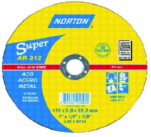Disco Corte Super Aço  - AR 312 - NORTON