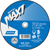 Disco Desbaste Norton Maxi - 180 (7 POL.) -  BDA 600 - NORTON