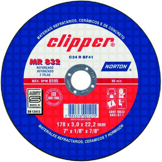 Disco Refratário Clipper MR 832 - NORTON