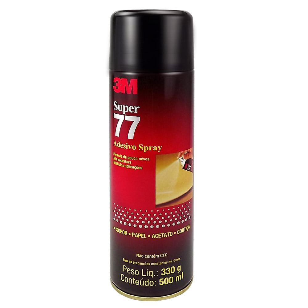 Adesivo Spray Super 77 Cola Isopor Papel Acetato e Cortiça - 3M