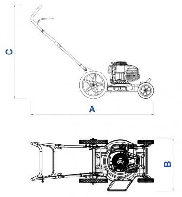 Cortador de Grama CC45M - 4HP - TRAMONTINA