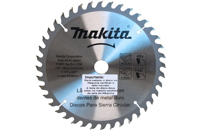 Disco de Serra Circular - 185x20mm (7-1/4') - D-51356 - MAKITA