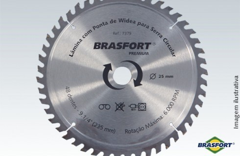 "Disco Serra Circular Widea 9. 1/4"" (235mmx25mm) - 24 dentes - BRASFORT"