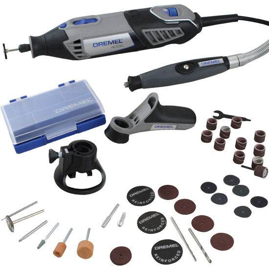 Micro Retífica Dremel - 4000 com 36 Acessórios e 3 Acoplamentos - 110V