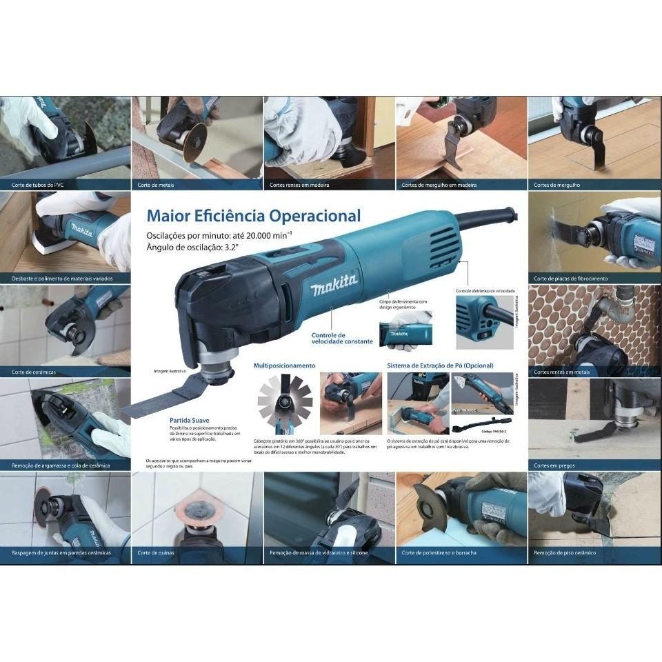 Multi ferramenta TM3010CK - MAKITA - 110V