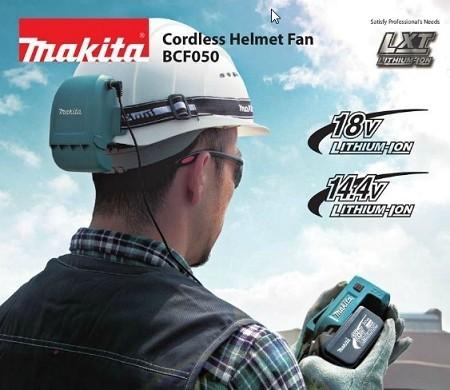 Ventilador A Bateria Para Capacete - BCF050 - MAKITA