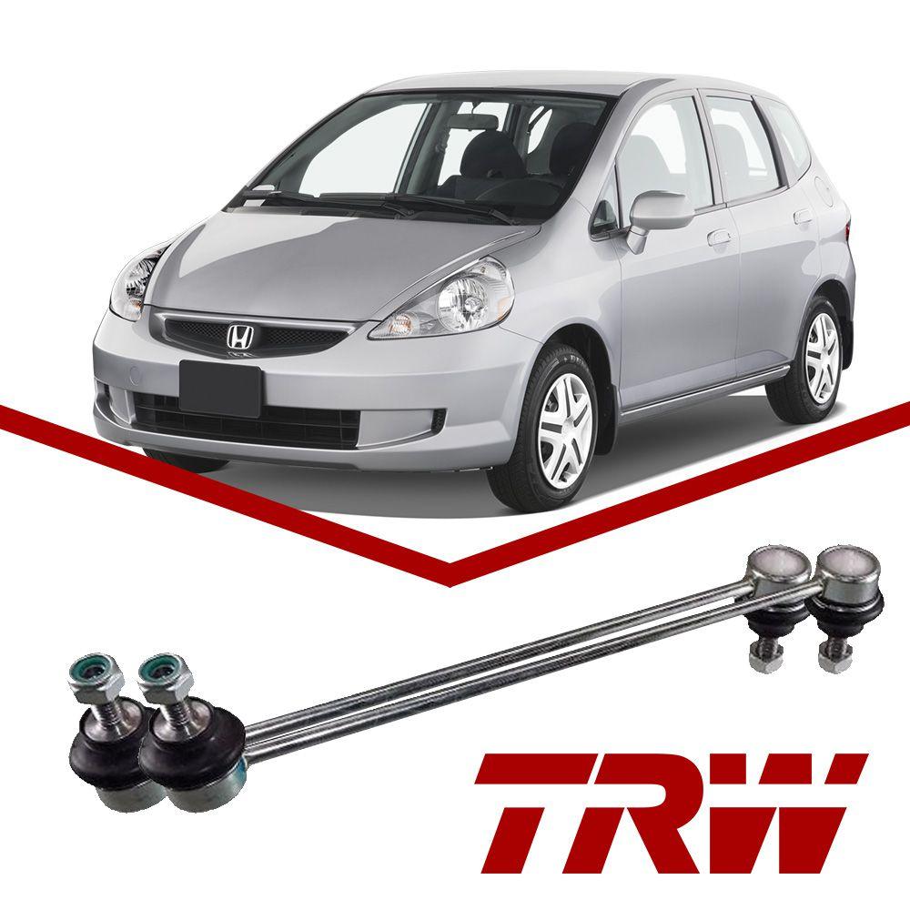 02 Bieletas Barra Estabilizadora Dianteira Honda Fit 2003 a 2008 Original TRW  - Unicar