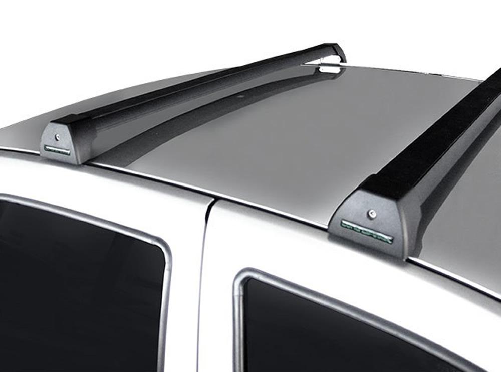 Rack Teto Bagageiro Sandero ate 2014 Duster sem longarina Longlife Modelo Aluminio Preto
