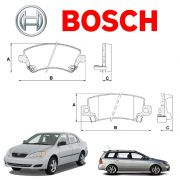 Pastilha Freio Dianteiro E Traseiro Corolla Fielder 2003 2004 2005 2006 2007 2008 Bosch Original