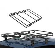 Bagageiro Maleiro Teto Aço Universal Gradeado Para Transporte de Cargas Resistente Necessita ter Rack Largura 0,73m x Profundidade 1,2m