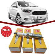 Jogo Vela Ford Novo Ka 1.0 12v 3cc Ngk Lnar7a9g
