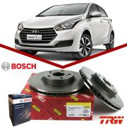Kit Disco + Pastilha Freio Dianteiro HB20 1.6 16v 2013 2014 2015 2016 2017 Bosch