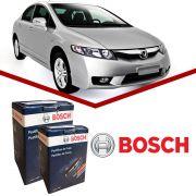 Kit Pastilha Freio Bosch Dianteira + Traseira Civic 1999 a 2012
