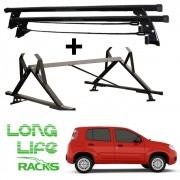 Kit Rack Longlife + Porta Escadas Fiat Novo Uno 4 Portas