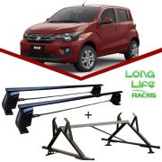 Kit Rack Longlife Steel + Porta Escadas Fiat Mobi 4 Portas