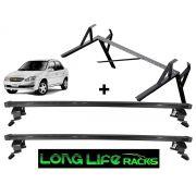 Kit Rack + Porta Escadas LongLife Smart Corsa Até 2002 Classic Todos 4 Portas