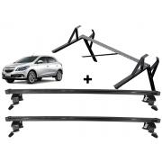 Kit Rack + Porta Escadas Onix 2013 a 2019 Super Resistente Não Precisa Perfurar o Teto