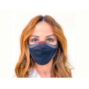 Máscara de Proteção Respiratória 3d Knit Fiber Lavável Com Filtro