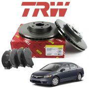 Pastilha + Disco Dianteiro New Civic 1.8 2006 a 2011 Original TRW